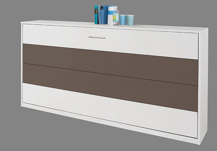 klappbett albero eiche wei und lavagrau 90x200 cm. Black Bedroom Furniture Sets. Home Design Ideas