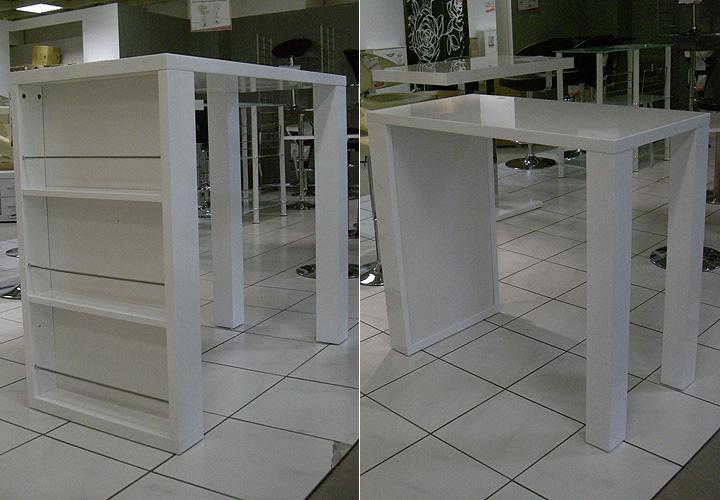 bartisch friederike wei hochglanz lackiert. Black Bedroom Furniture Sets. Home Design Ideas