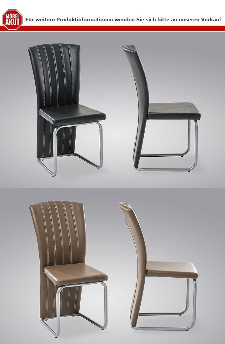 stuhl aylin 4er set cappuccino braun und silber. Black Bedroom Furniture Sets. Home Design Ideas