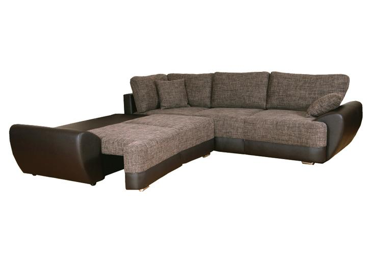 ecksofa baracuda sofa couch braun beige mit schlaffunktion. Black Bedroom Furniture Sets. Home Design Ideas