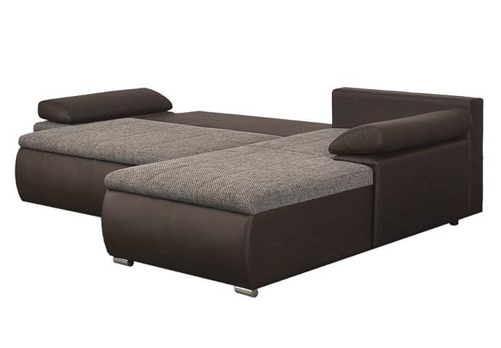 ecksofa celina dunkelbraun braun inkl funktionen 274x180. Black Bedroom Furniture Sets. Home Design Ideas