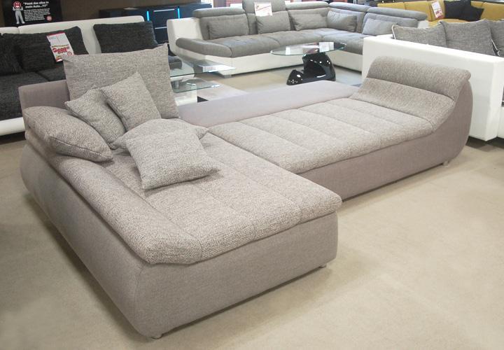 ecksofa rondo grau stone mit schlaffunktion. Black Bedroom Furniture Sets. Home Design Ideas