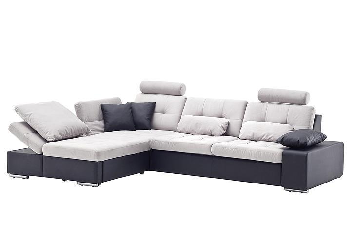 ecksofa change schwarz hellgrau recamiere links 200x310. Black Bedroom Furniture Sets. Home Design Ideas