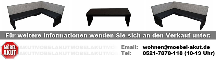 eckbank otto bank sitzbank polsterbank in schwarz und grau links 200x140 cm ebay. Black Bedroom Furniture Sets. Home Design Ideas