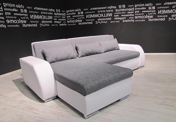 eckgarnitur flensburg wei grau inkl kissen ot l 251 cm. Black Bedroom Furniture Sets. Home Design Ideas