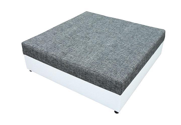 hocker giga polsterhocker in wei und grau 120x120 cm. Black Bedroom Furniture Sets. Home Design Ideas
