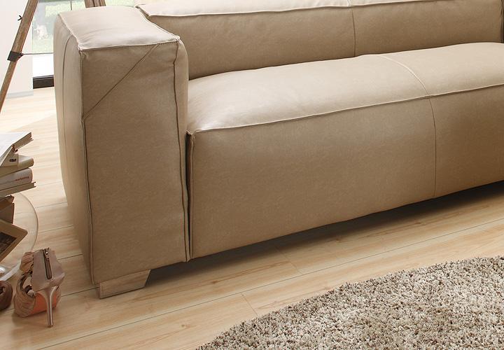 ecksofa cloe wohnlandschaft sofa in braun grau mit federung. Black Bedroom Furniture Sets. Home Design Ideas