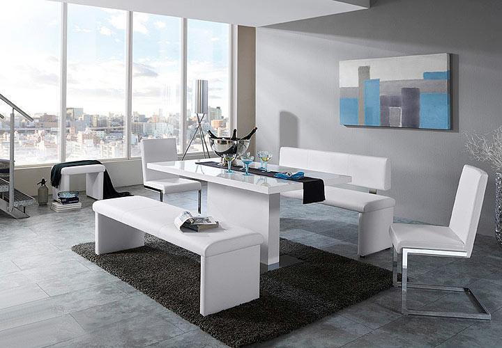 vienna esstisch wei hochglanz 140. Black Bedroom Furniture Sets. Home Design Ideas