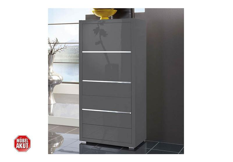 kommode sydney schrank grau hochglanz lackiert neu. Black Bedroom Furniture Sets. Home Design Ideas