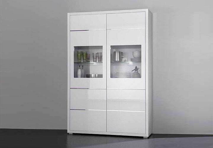 sydney vitrine wei. Black Bedroom Furniture Sets. Home Design Ideas