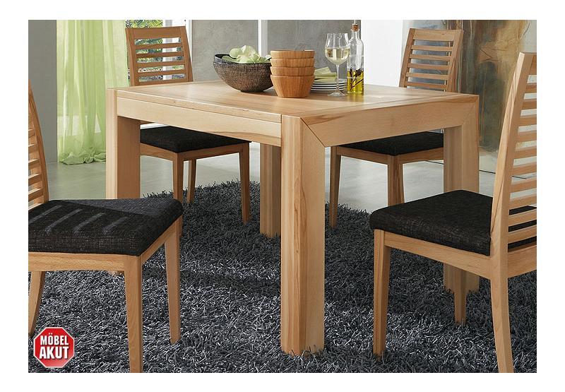 tisch tello esstisch in kernbuche massiv furniert 120x90 ebay. Black Bedroom Furniture Sets. Home Design Ideas