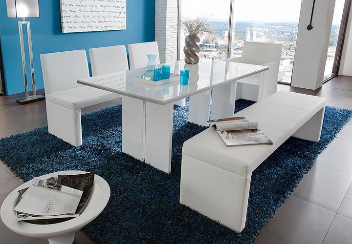 esstisch elias esszimmertisch in wei hochglanz 140x90 cm. Black Bedroom Furniture Sets. Home Design Ideas