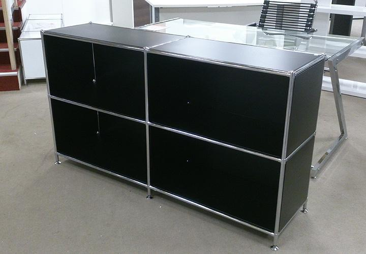 piko sideboard regal metall schwarz und chrom. Black Bedroom Furniture Sets. Home Design Ideas