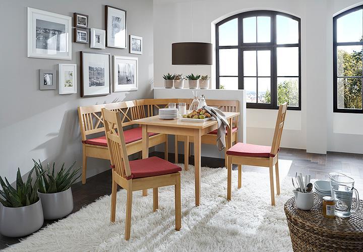 straubing eckbankgruppe buche massiv lack 4 teilig. Black Bedroom Furniture Sets. Home Design Ideas