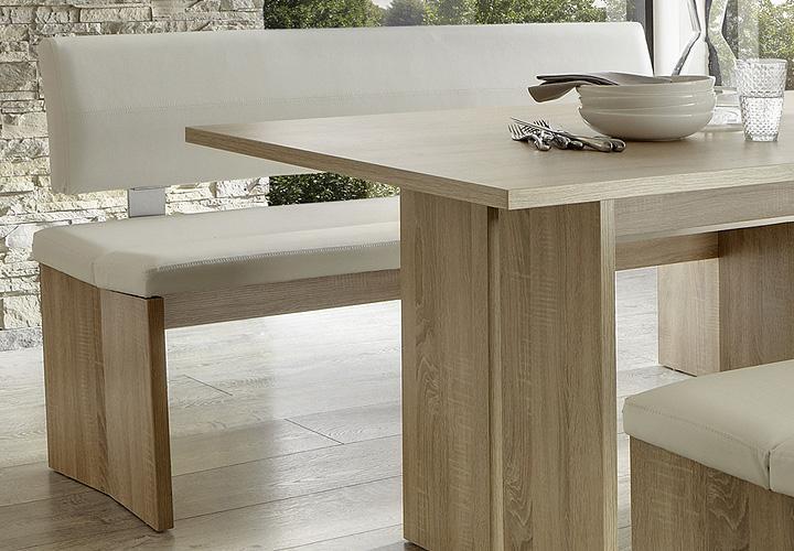 woodwork bank 160 sonoma eiche s gerau und wei. Black Bedroom Furniture Sets. Home Design Ideas