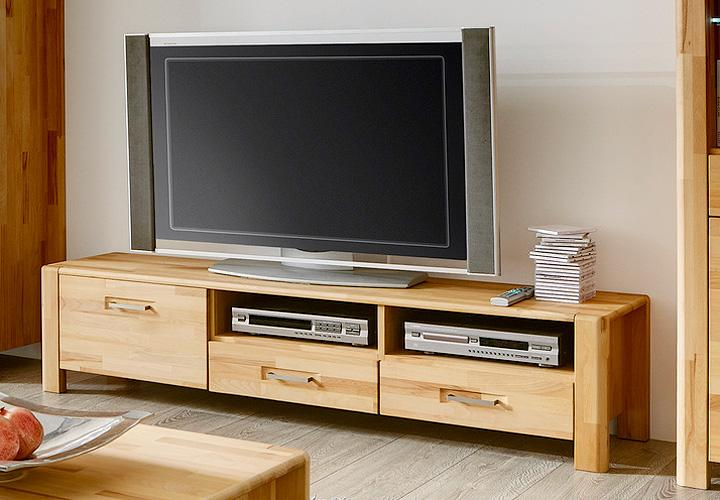 tv board milla kern buche massiv ge lt. Black Bedroom Furniture Sets. Home Design Ideas