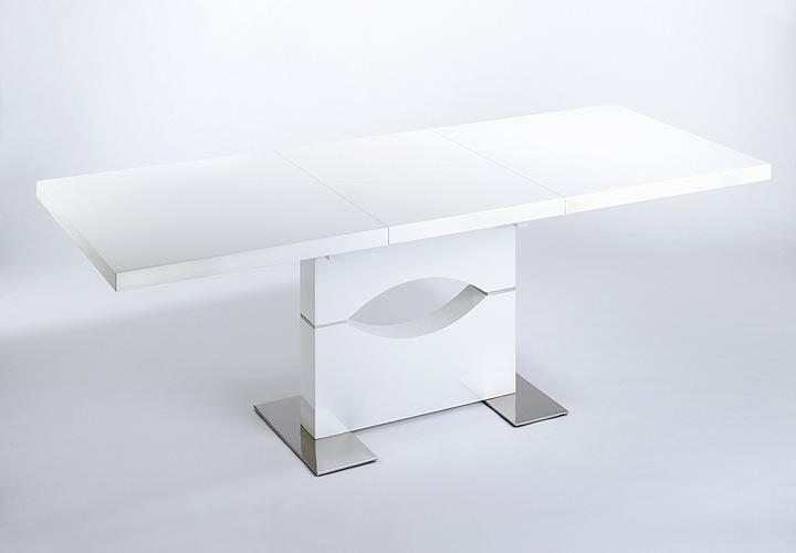 esstisch ivy wei hochglanz lackiert ausziehbar 160 220x90. Black Bedroom Furniture Sets. Home Design Ideas