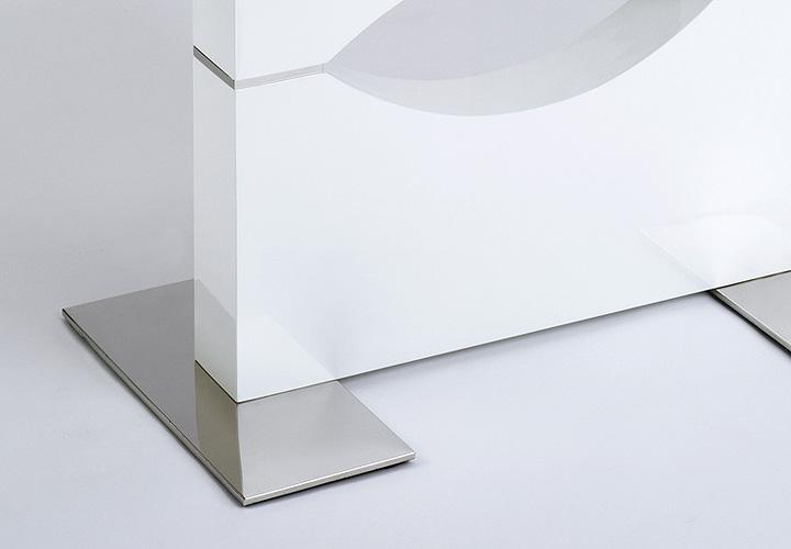 Esstisch IVY Weiß Hochglanz lackiert ausziehbar 160220×90