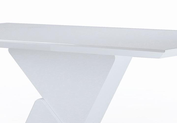 Säulentisch Cube : Säulentisch CUBE weiß Hochglanz Lack ausziehbar ...