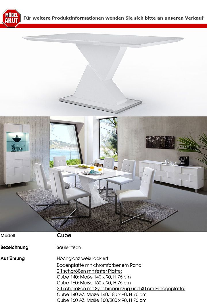 saulentisch cube beste inspiration f r ihr interior design und m bel. Black Bedroom Furniture Sets. Home Design Ideas