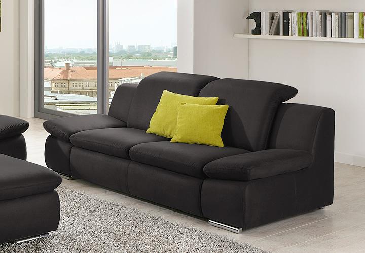 2er sofa isona wohnzimmersofa in anthrazit mit funktion. Black Bedroom Furniture Sets. Home Design Ideas