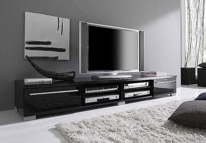 tv board mare tv schwarz ii hochglanz. Black Bedroom Furniture Sets. Home Design Ideas