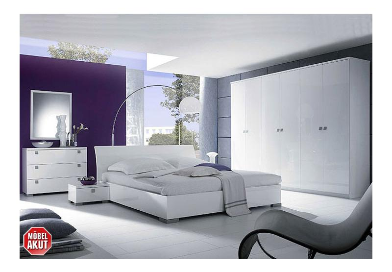 schlafzimmer set maxy wei echt hochglanz lackiert ebay. Black Bedroom Furniture Sets. Home Design Ideas