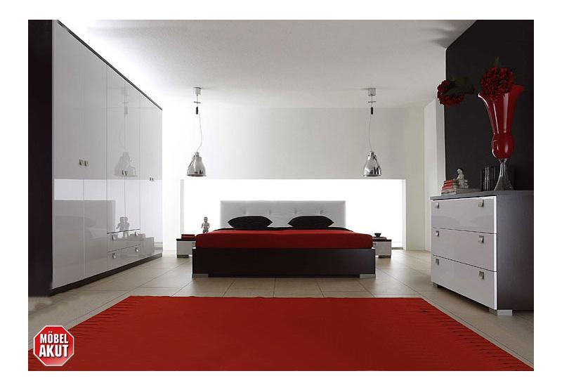 schlafzimmer schwarz hochglanz digritcom for - Schlafzimmer Set
