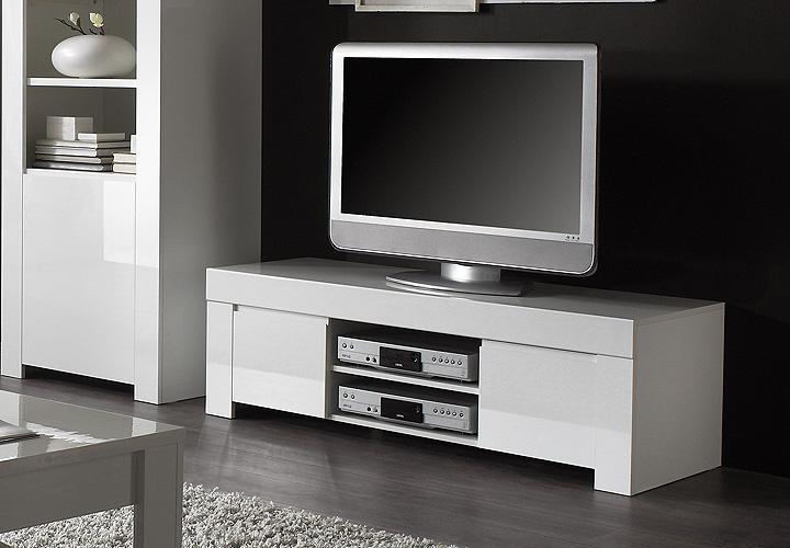 tv board amalfi wei echt hochglanz lackiert 140cm breit. Black Bedroom Furniture Sets. Home Design Ideas