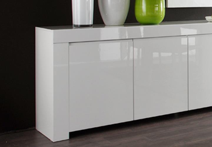 sideboard amalfi wei echt hochglanz lackiert 210 cm breit. Black Bedroom Furniture Sets. Home Design Ideas