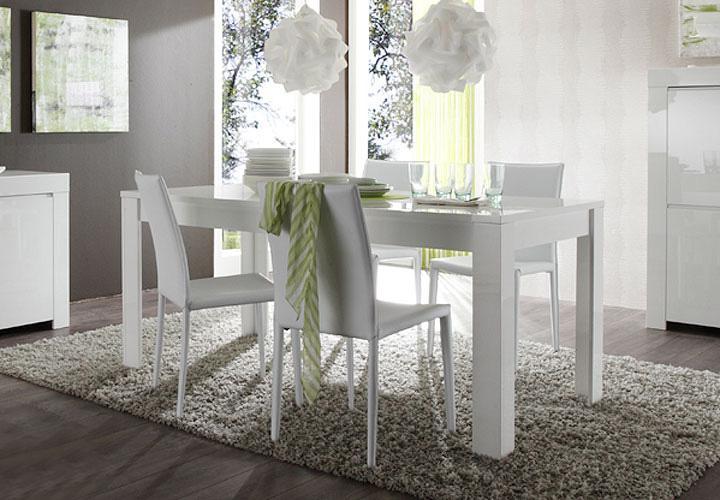 esstisch amalfi 180x90 cm wei hochglanz lackiert. Black Bedroom Furniture Sets. Home Design Ideas