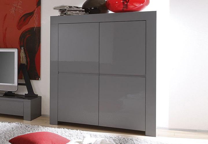 amalfi highboard grau echt hochglanz. Black Bedroom Furniture Sets. Home Design Ideas