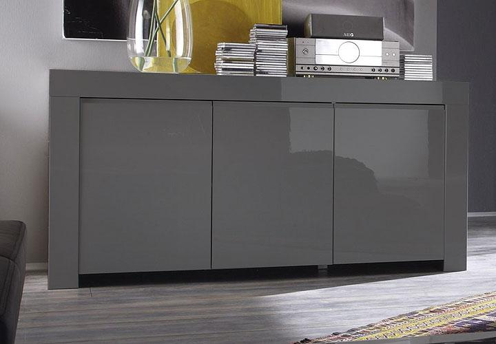 sideboard amalfi kommode lack grau echt hochglanz neu ebay. Black Bedroom Furniture Sets. Home Design Ideas