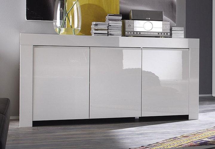 amalfi sideboard iii wei echt hochglanz. Black Bedroom Furniture Sets. Home Design Ideas