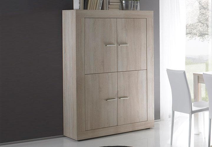 highboard rustica sideboard kommode in sonoma eiche dekor. Black Bedroom Furniture Sets. Home Design Ideas