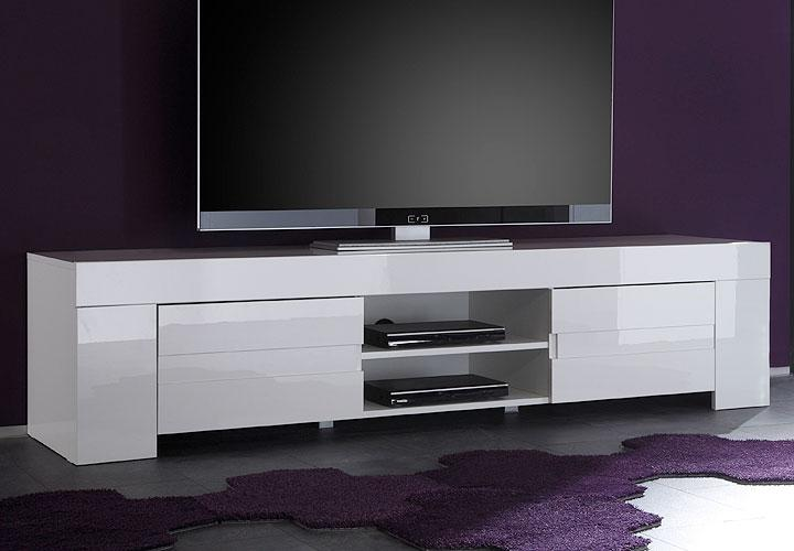 eos tv lowboard wei echt hochglanz lackiert. Black Bedroom Furniture Sets. Home Design Ideas