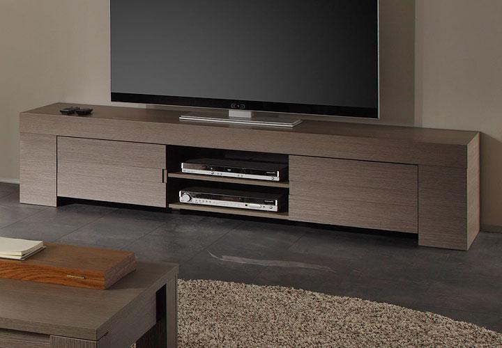 tv lowboard eos tv unterteil in eiche grau dekor 2 t rig. Black Bedroom Furniture Sets. Home Design Ideas