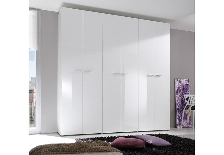 kleiderschrank smart wei hochglanz 237 cm. Black Bedroom Furniture Sets. Home Design Ideas