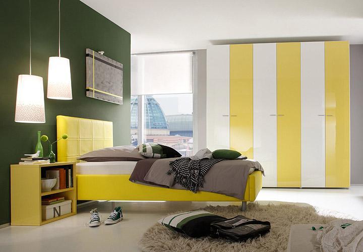 jugendzimmer smart gelb wei hochglanz. Black Bedroom Furniture Sets. Home Design Ideas