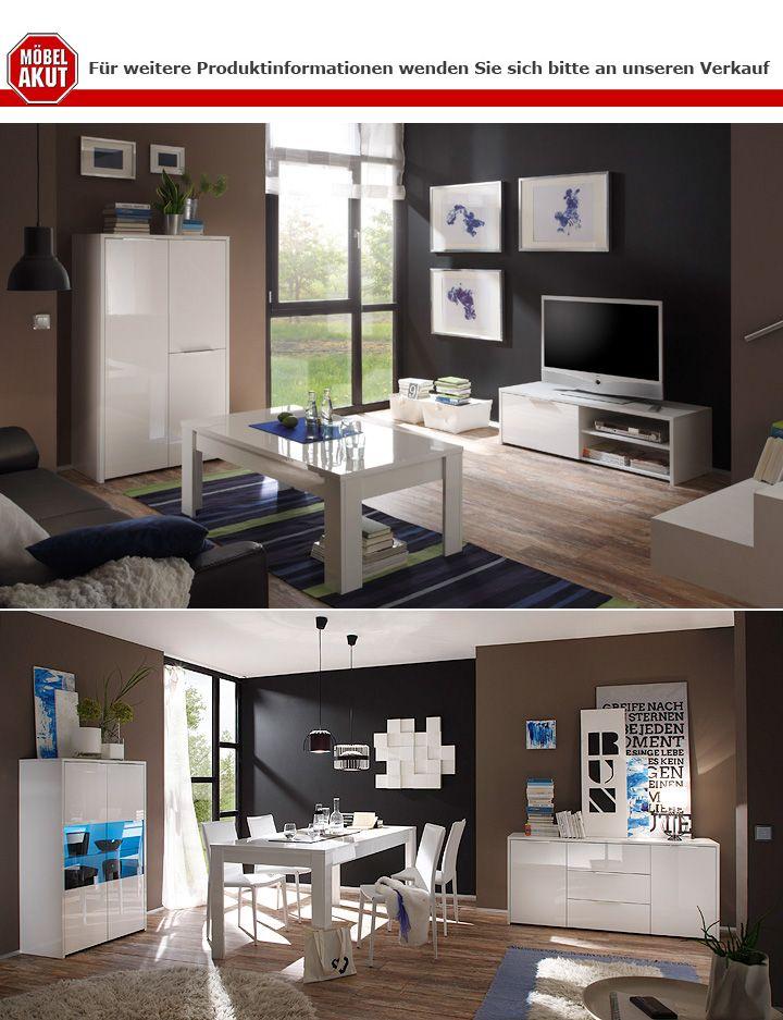 highboard sorrento schrank buffet in wei echt hochglanz lack neu. Black Bedroom Furniture Sets. Home Design Ideas