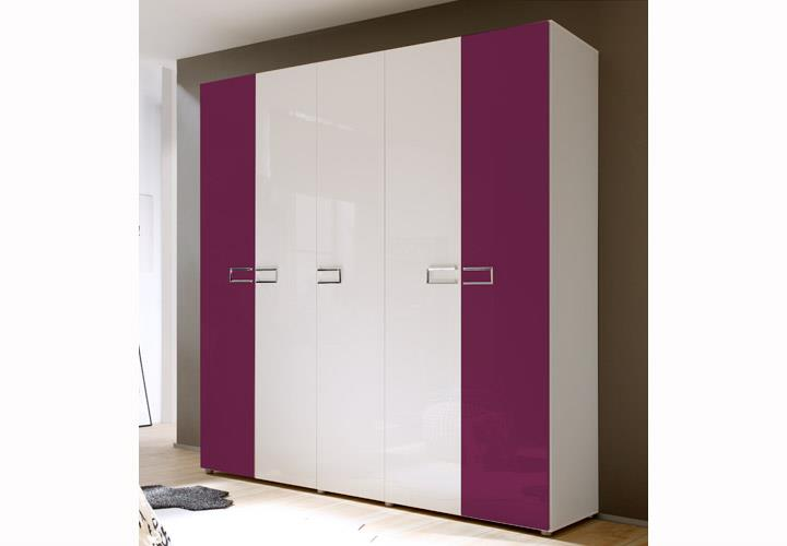 kleiderschrank wei lila interessante ideen. Black Bedroom Furniture Sets. Home Design Ideas