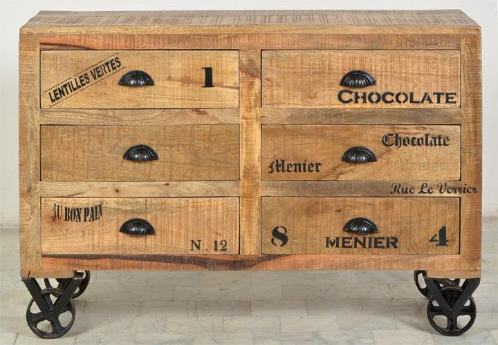 kommode rustic mango massiv antik 110 cm breit. Black Bedroom Furniture Sets. Home Design Ideas