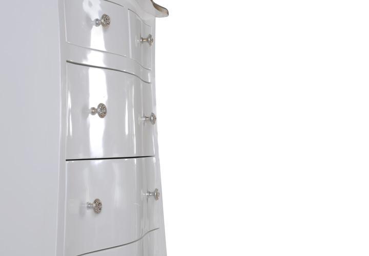 kommode pomp mahagoni mdf wei silber 70 cm breit. Black Bedroom Furniture Sets. Home Design Ideas