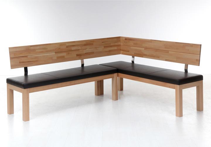 eckbank shadow middle rechts kernbuche massiv sitz schwarz. Black Bedroom Furniture Sets. Home Design Ideas