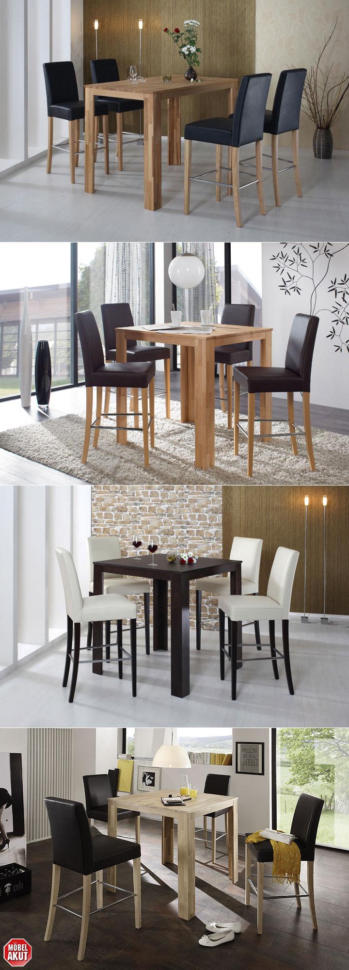 bartisch dalor tisch bistrotisch buche massiv natur lackiert 90x90 cm ebay. Black Bedroom Furniture Sets. Home Design Ideas