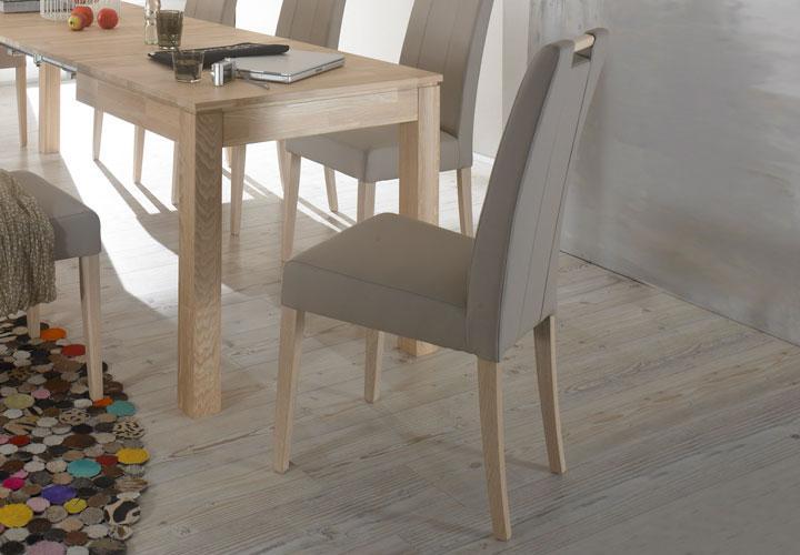 stuhl samy polsterstuhl mit griff esszimmerstuhl hell braun schlamm sonoma eich ebay. Black Bedroom Furniture Sets. Home Design Ideas