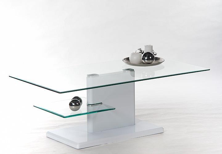 malia couchtisch wei hochglanz lackiert glasplatte. Black Bedroom Furniture Sets. Home Design Ideas