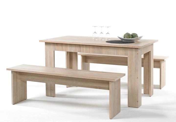 tisch bankgruppe cororal sonoma eiche inkl 6 sitzkissen. Black Bedroom Furniture Sets. Home Design Ideas