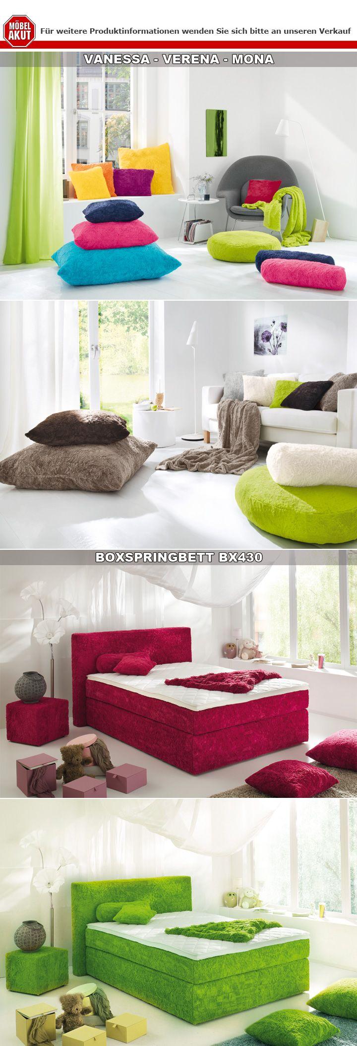 kissen vanessa nackenrolle nackenkissen zottelkissen farbauswahl 60x20 cm ebay. Black Bedroom Furniture Sets. Home Design Ideas