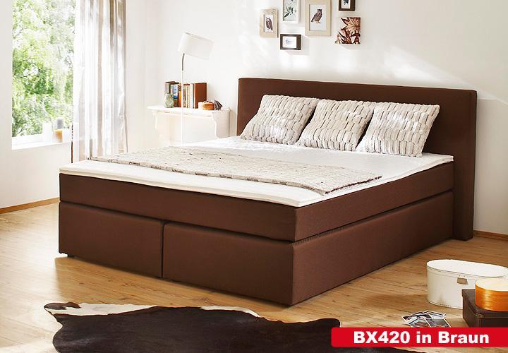boxspringbett bx420 schlafzimmerbett in anthrazit 180x200. Black Bedroom Furniture Sets. Home Design Ideas